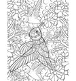 adult coloring bookpage a group of hummingbirds vector image