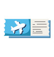 airplane ticket document to vacation travel vector image vector image