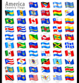 American Waving Flag Set vector image vector image