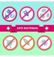Antibacterial coating sterilization vector image