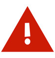 attention icon vector image vector image