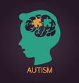autism icon vector image