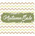 autumn sale background vector image vector image