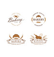 bakery and dessert logo sign template set vector image vector image