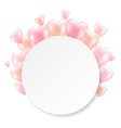 balloons with white banner isolated vector image vector image