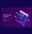 banner online real estate market vector image