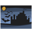 bats flying in the moonlight and old castle vector image vector image