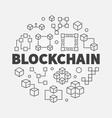 blockchain concept block vector image vector image