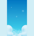 blue gradient sky and clouds vector image vector image