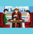business people meeting in cafe vector image