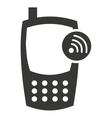 cellphone silhouette isolated icon vector image