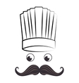 Chef funny cartoon face vector image