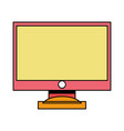 color computer screen electronic technology vector image vector image