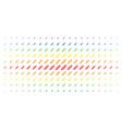 corn spectrum halftone matrix vector image vector image