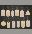 craft hanging labels price brown paper tag vector image