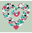 Cute social bird love vector image vector image