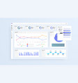 data infographic application ui ux modern vector image