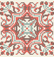 ethnic pixel seamless pattern embroidery vector image