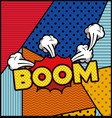 expression bubble with boom pop art style vector image vector image
