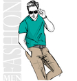 Fashion man vector | Price: 1 Credit (USD $1)