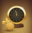 Festive New Year Background with Christmas Ball vector image