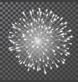 fireworks festival white firework llustration on vector image