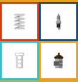 flat icon parts set of spare parts absorber vector image vector image