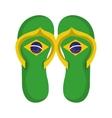 flip flops brazil culture vector image vector image
