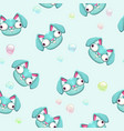 funny childish seamless pattern vector image vector image