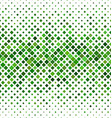 Green abstract square pattern background vector image