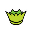green crown sign vector image vector image
