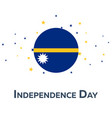 independence day of nauru patriotic banner vector image