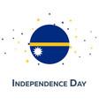 independence day of nauru patriotic banner vector image vector image