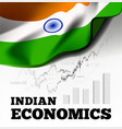 indian economic with flag vector image vector image