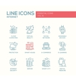 Internet - flat design line icons set vector image vector image