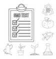 isolated object of and symbol collection of vector image