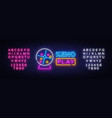 keno lottery neon sign design template vector image