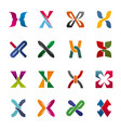 letter x icons for corporate identity vector image vector image