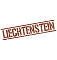 Liechtenstein brown square stamp vector image vector image