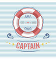 lifebuoy nautical and marine sailing themed label vector image vector image