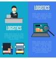 logistics and freight transportation banners set vector image