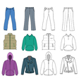 Man clothes colored autumn collection vector image vector image