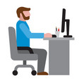 man in office workplace icon vector image vector image