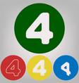 number 4 sign design template element 4 vector image