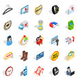 office icons set isometric style vector image vector image