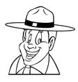 park ranger outline vector image vector image