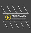 parking zone mockup vector image