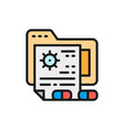 patient files medical prescription folder flat vector image