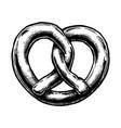 pretzel vector image vector image