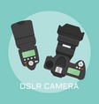 professional dslr photo camera vector image vector image